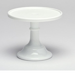 """Mosser Glass 12"""" Footed Cake Plate - Milk"""