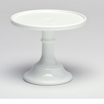 Mosser Glass 12'' Footed Cake Plate - Milk