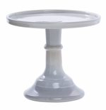 """Mosser Glass 6"""" Cake Plate Marble"""