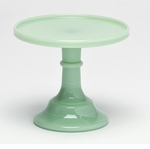 """Mosser Glass 6"""" Footed Cake Plate - Jade"""