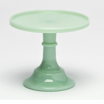 Mosser Glass 6'' Footed Cake Plate - Jade
