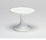 """Mosser Glass 6"""" Footed Cake Plate - Milk"""