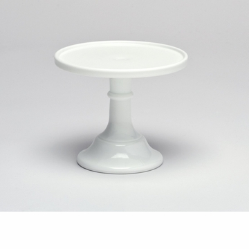 Mosser Glass 6'' Footed Cake Plate - Milk