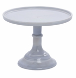 """Mosser Glass 9"""" Cake Plate Marble"""