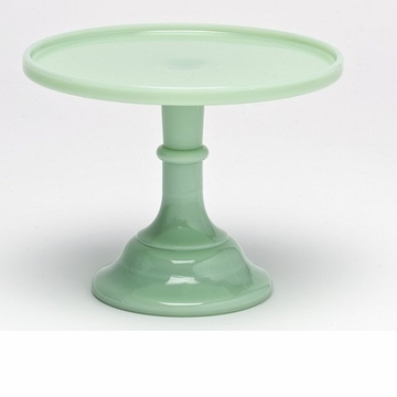 Mosser Glass 9'' Footed Cake Plate - Jade
