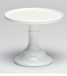"""Mosser Glass 9"""" Footed Cake Plate - Milk"""