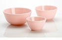 Mosser Glass Crown Tuscan Pink Glass Mixing Bowl Set