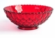 "Mosser Glass Elizabeth Red Large Fruit Bowl 10.25"" D"