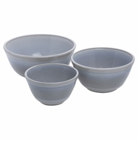 Mosser Glass Mixing Bowl Set Marble
