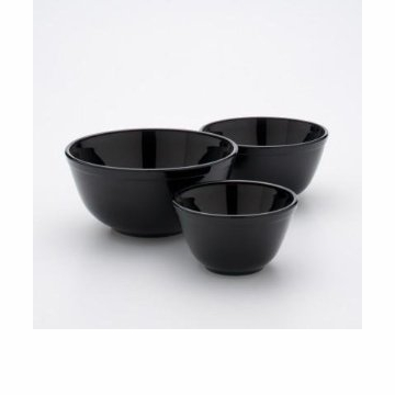 Mosser Glass Nesting Mixing Bowl Set Black Raspberry