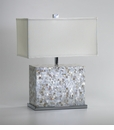 Mother of Pearl Mosaic Table Lamp by Cyan Design