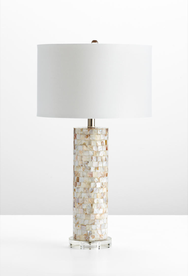Mother of pearl table lamp by cyan design aloadofball Choice Image