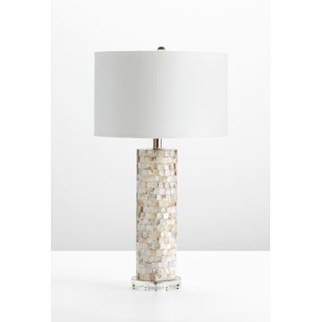 Mother of pearl table lamp by cyan design aloadofball Images