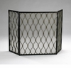 Mystic Gold Mesh Fireplace Screen by Cyan Design