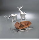 Nambe Sleigh and 2 Reindeer Set