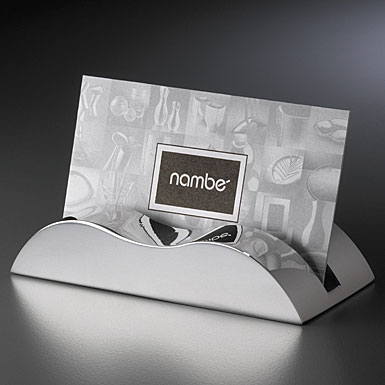 Nambe wave business card holder colourmoves