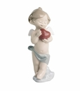 "Nao by Lladro Porcelain ""A little heart of love"" Figurine"