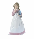 "Nao by Lladro Porcelain ""And now to bed"" Figurine"