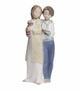 "Nao by Lladro Porcelain ""Learning together"" Figurine"