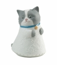 "Nao by Lladro Porcelain ""Little kitty (blue)"" Figurine"