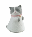 "Nao by Lladro Porcelain ""Little kitty (pink)"" Figurine"