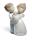 Nao by Lladro Porcelain Love is our little baby Figurine
