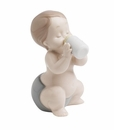 "Nao by Lladro Porcelain ""My first bottle"" Figurine"