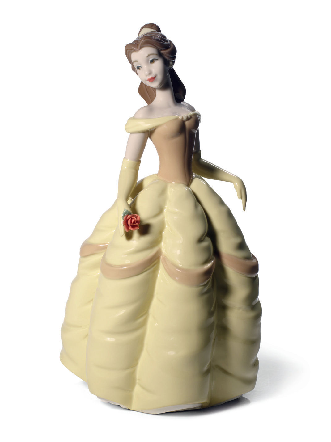 nao by lladro porcelain disney princess belle figurine. Black Bedroom Furniture Sets. Home Design Ideas