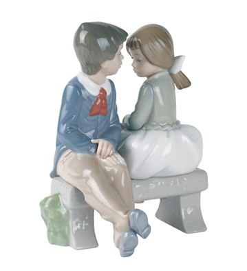 Nao By Lladro Porcelain Quot First Love Quot Figurine