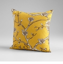 Nature Lover Yellow Decorative Pillow by Cyan Design