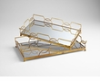 Nephrite Wood & Glass Trays by Cyan Design