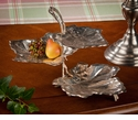 Dessau Home Nickel 3 Tier Leaf Dish Home Decor