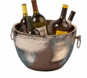 Dessau Home Nickel Aluminum Double Walled Hammered Cooler Home Decor