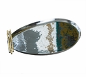 Dessau Home Nickel And Gold Bamboo Oblong Tray Home Decor