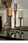 Nickel Finish Pillar Candleholder Large Home Decor