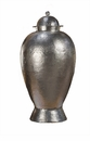 Dessau Home Nickel Hammered Temple Jar Home Decor