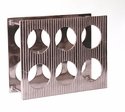 Dessau Home Nickel Lined 6 Bottle Wine Rack Home Decor