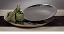 "Dessau Home Nickel Plated Steel ""Organic"" Platter - Large Home Decor"