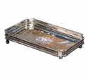 Dessau Home Nickel Rectangle Gallery Tray Home Decor