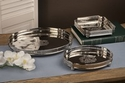 Dessau Home Nickel Square Tray Home Decor