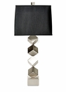 Dessau Home Nickel Stacked Cube Lamp (3 Way And 150W ) Home Decor