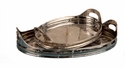 "Dessau Home Nickel Tray Oval Etched 16.5"" L Home Decor"