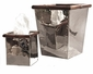 Nickel With Bamboo Tissue Box Home Decor