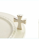 Nora Fleming Cross Mini Ceramic Charm