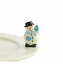 Nora Fleming Frosty Pal Snowman Mini Ceramic Charm