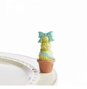 Nora Fleming Garden Of Joy Blue Topiary Mini Ceramic Charm