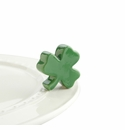 Nora Fleming Irish At Heart Shamrock Mini Ceramic Charm