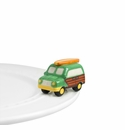 Nora Fleming Surfs Up Woody Wagon Mini Ceramic Charm