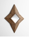 North Star Wood Wall Mirror by Cyan Design
