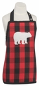 Now Designs Buffalo Check Bear Kid Apron